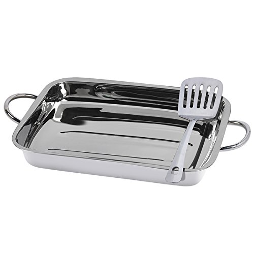 Silvertone Stainless Steel 2-piece Lasagna Set