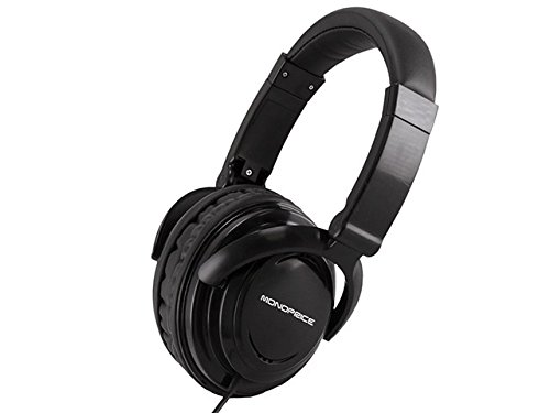 Monoprice 108324 Hi-Fi Light Weight Over The Ear Headphone For Cellphones - Retail Packaging