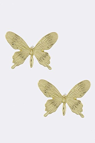 Baubles & Co Delicate Butterfly Accent Earrings (Gold) front-221879