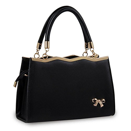 koson-man-womens-fashionable-pu-leather-vintage-wedding-party-tote-bags-top-handle-handbagblack