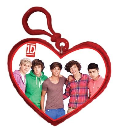 "Play Visions 1D Heart Photo Clip-On Plush, 4"" Styles May Vary - 1"