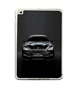 Luxury Black Car 2D Hard Polycarbonate Designer Back Case Cover for Apple iPad Mini 4 :: Apple iPad Mini 2 :: Apple iPad Mini 2 Wi-Fi + Cellular :: Apple iPad Mini 3 :: Apple iPad Mini 3 Wi-Fi + Cellular