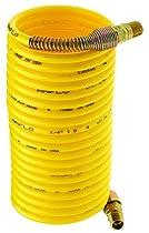 Amflo 4-12 Yellow 200 PSI Nylon Recoil Air Hose 1/4