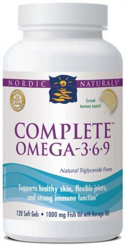 Nordic Naturals Complete Omega 3-6-9, 1000 mg, 120 Soft Gels
