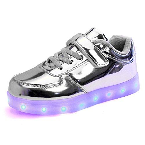 DoGeek-Zapatos-Led-Nios-Nias-Deortivos-Para-7-Color-USB-Carga-LED-Luz-Glow-USB-Flashing-Zapatillas-nio-Elegir-1-tamao-ms-grande