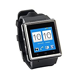 ZGPAX S6 Smart Watch Phone Smartphone Smartwatch 3G MTK6577 Dual Core Android 4.0 1.54 Inch Touch Screen GPS 2.0 MP Camera Wifi WCDMA GSM RAM 512MB ROM 4GB Unlock (Black)