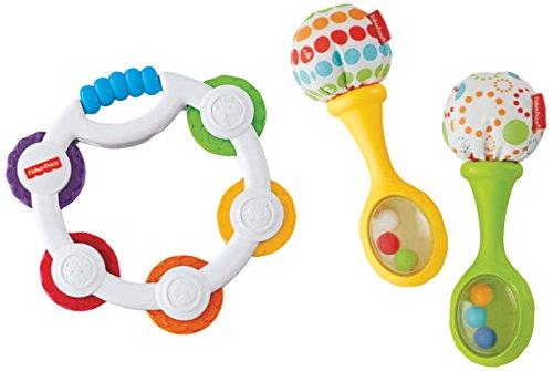 Fisher-Price Tambourine and Maracas Gift Set - 1