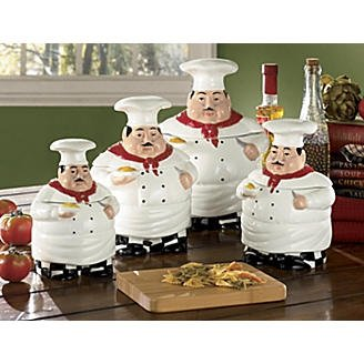 Ordinaire Fat Chef Kitchen Canister Set Of 4