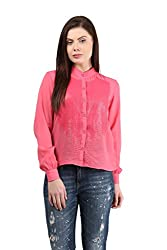 Mayra Women's Georgette Shirt (1512T11175_S , Pink )