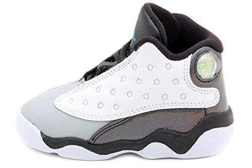 Nike Jordan 13 Retro BT Baby Toddler White/Black/Wolf Grey/Tropical Teal 414581-115 (SIZE: 2C)