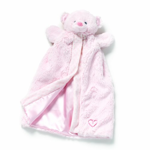 Nat and Jules  Blanket Plush Toy, Pink Bear Puppet