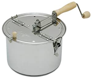 Lindy's Stainless Steel Stove Top Popcorn Popper, 6-Quart