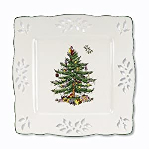 Spode Christmas Tree Pierced Square Tray