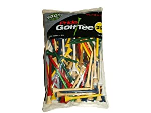 Pride Golf Tee - 2-3/4 inch Deluxe Tee - 100 Count (Standard Mixed Colors)