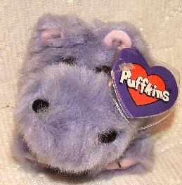 Puffkins Bean bag, NWT - Henrietta the Hippo - 1