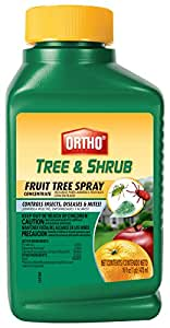 Ortho Tree & Shrub Fruit Tree Spray, 16-Ounce (Active Ingredients: 70.00% Neem Oil, 2.5% Piperonyl Butoxide, 0.25% Pyrethrins)