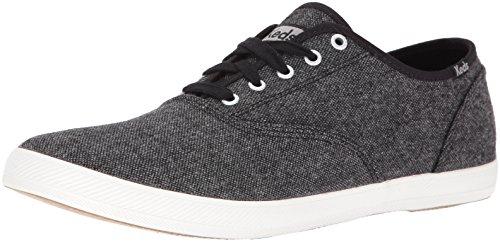 Keds Men's Champion Tweed Fashion Sneaker, Black, 11.5 M US (Keds Men Champion compare prices)