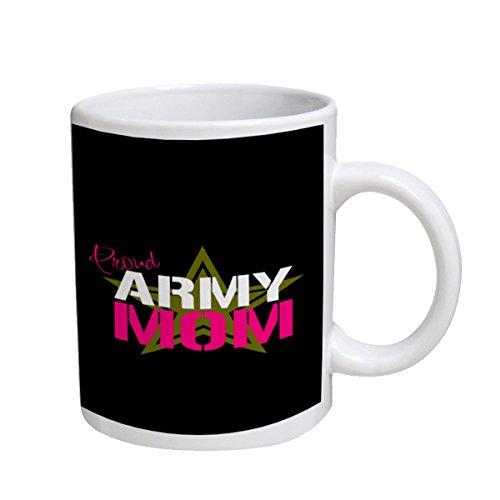 Proud Army Mom - White Coffee Mug