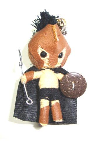 300 Gerard Butler Voodoo String Doll Keyring Keychain