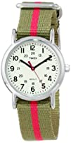 Timex Womens T2N917 8220Weekender Watch with Olive Green