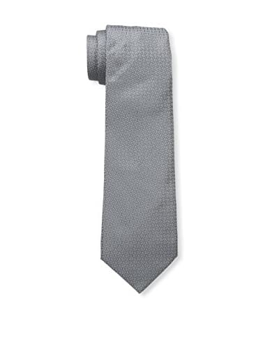 Valentino Men's Solid Textured Tie, Grey