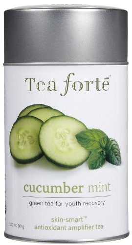 Tea Forte Skin Smart Loose Tea Canister-Cucumber Mint