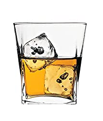 Pasabahce Carre Whisky Glass, Set of 6 ,310ml