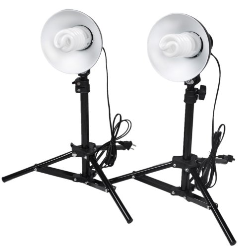 CowboyStudio Photography Table Top Photo Studio Lighting Kit - 2 Light Kit (Photography Lighting Kit Tabletop compare prices)