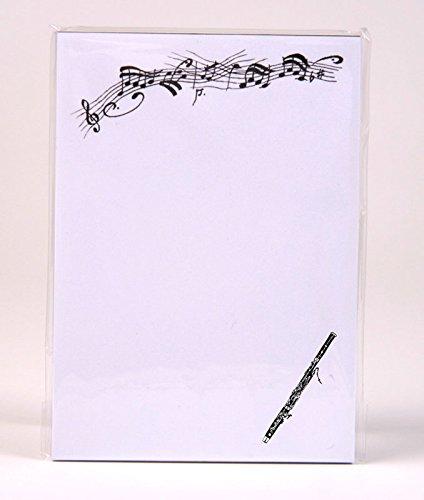 Notizblock-mit-Bleistift-und-Radiergummi-Fagott-Schnes-Geschenk-fr-Musiker
