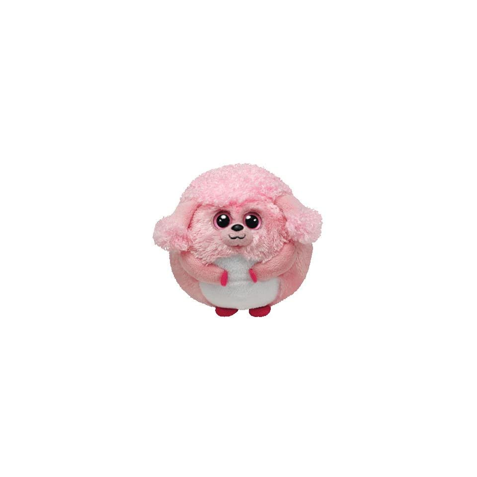 c4e90bc6fab Ty Beanie Ballz Lovey Plush Pink Poodle on PopScreen