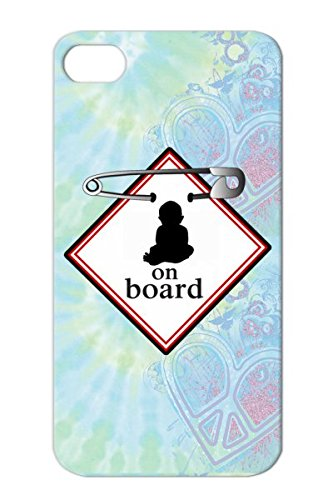 White Family Baby On Board Pregnant Pregnancy Invitations Child Family Baby For Iphone 4 Board Protective Hard Case front-624718