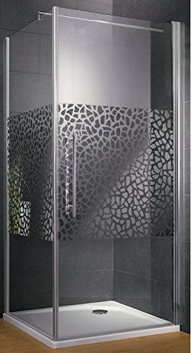 Duschkabine Dusche 90x90 Eckeinstieg Duschabtrennung Glas (ESG ...