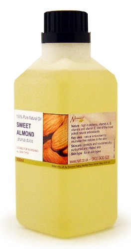 500ml Sweet Almond Oil - 100% Pure Cold Pressed