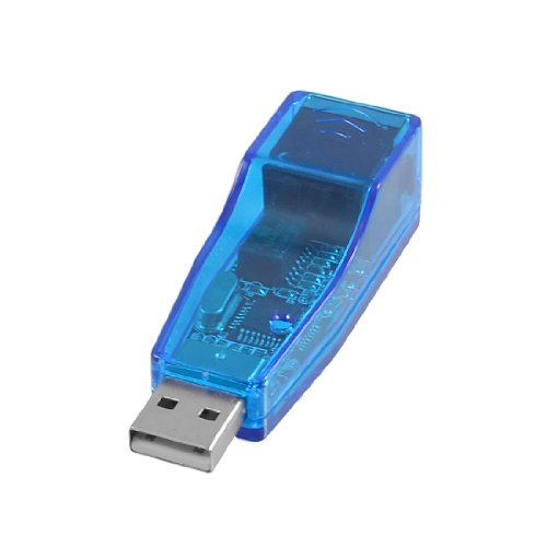 Clear Blue Usb Male To Rj45 Phone Jack Lan Adapter Connector