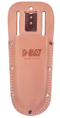 Leather Holster for Pruning Shears - Made in USA - ML Garden Tools Leather Holster for Hand Pruners P8235