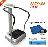 41YFrhc44BL. SL160  POWER FIT WHOLE BODY VIBRATION MACHINE PFM 002 with Yoga Mat & Yoga Towel : Multi program, 20 speed full body vibration platform with digital displays for BMI calculator, time, speed, & automatic modes. You can perform a Body Mass Index test at only a fraction of the cost of commercial units to achieve similar effects. 1 year warranty with North American Support and Services.