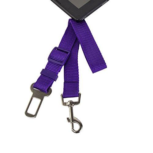 REEGE Dog Seat Belt Harness Adjustable Pet Seatbelt Safety Leash for Car Purple (Harness Extender compare prices)