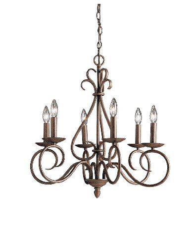 Kichler Lighting 1713TZ Norwich 6-Light Chandelier, Tannery Bronze