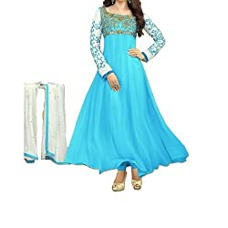 Poonam Fab-Unstitch Dress Material__Firozi