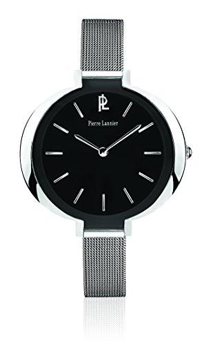 Pierre Lannier - 034L638 - Week End Ligne Pure - Montre Femme - Quartz Analogique - Cadran Noir - Bracelet Acier Argent