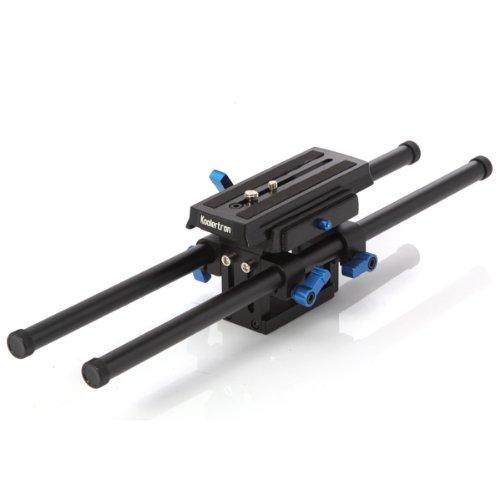 Koolertron Adjustable 15 mm Plateform Baseplate Plate Support Mount Rig Rail System With 2 Rods For DSLR Camera... Black Friday & Cyber Monday 2014