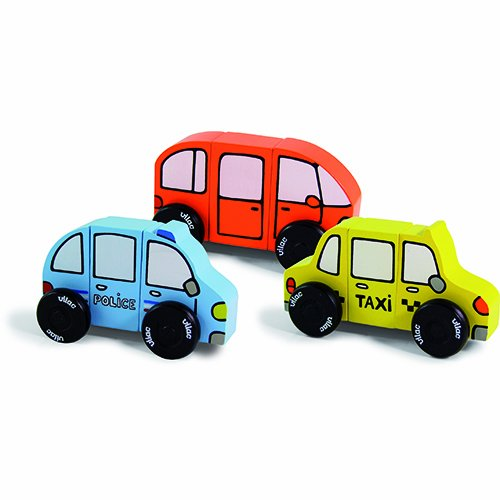Vilac Magnetic Car Shaped Blocks (Discontinued by Manufacturer)