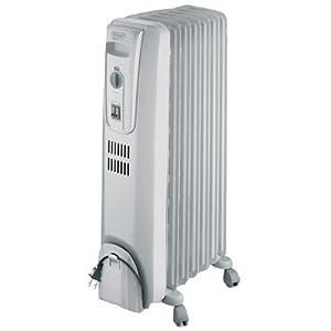 Delonghi TRH0715 Radiator Heater 7 Fin Oil-Filled Thermostat