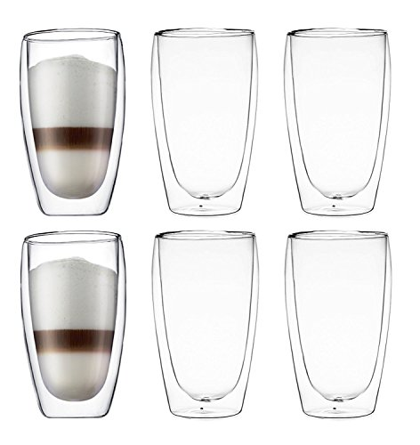 Bodum Pavina Double-wall Insulated 15-ounce Glasses - (Set of 6) (Bodum Chambord Milk compare prices)