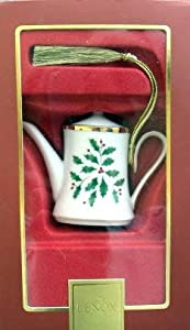 Lenox Holiday Christmas Tree Ornament Coffee Pot
