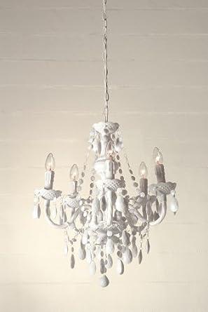 lampadari in metacrilato : lampadario a gocce barocco in plexiglass bianco: Amazon.it ...