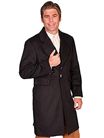 Steampunk Men's Coats Old West Wool Blend Frock Coat  AT vintagedancer.com