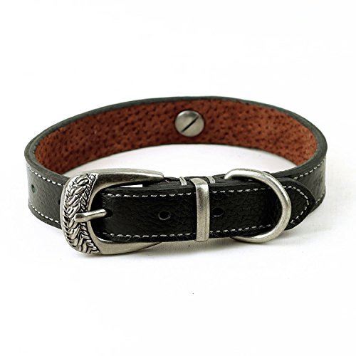[Neonr Pet Dog Collar Soft Leather Collars Buckle Small Middle Cat Dog(Black)] (Male Dominant Costume)