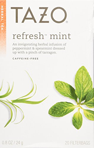 Tazo All Natural Herbal Infusion Tea Refresh Mint 2-pack;40 Tea Bags. - 1