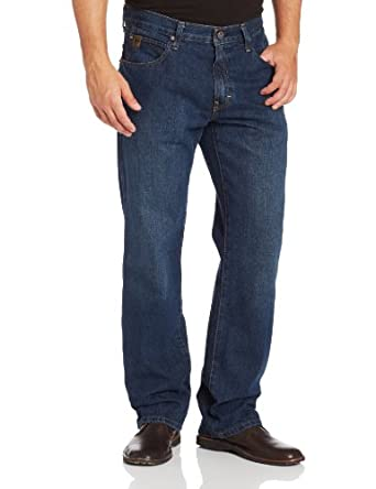 Ariat Men's Heritage Relaxed Boot Cut Jean, Dark Stone, 29x32